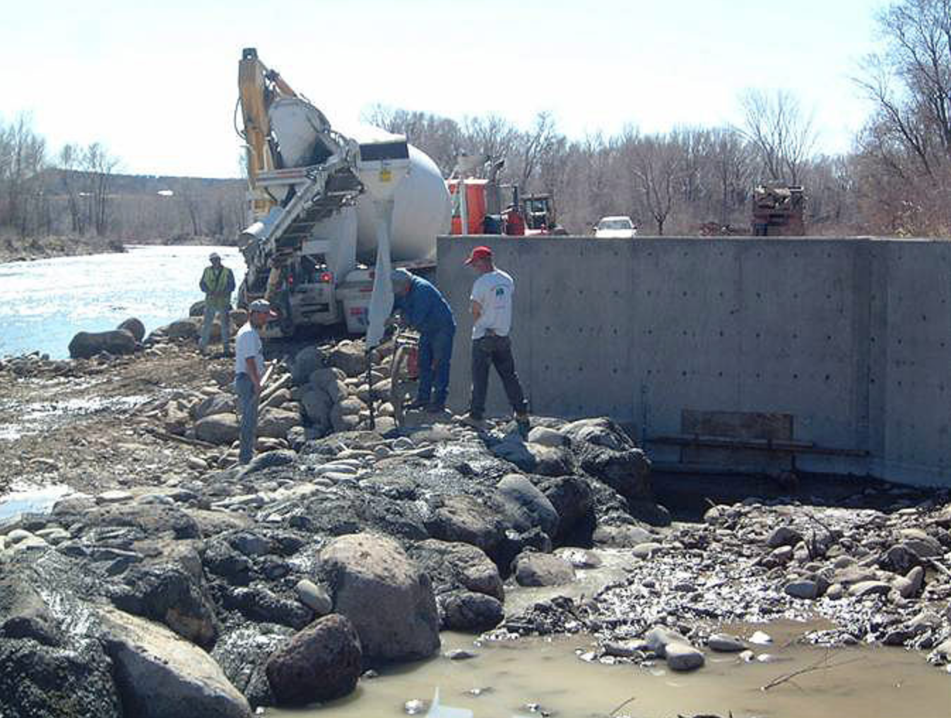 Monitor Ditch Diversion Construction